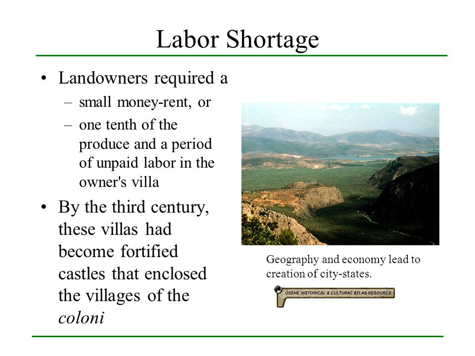 Labor Shortage Landowners required a