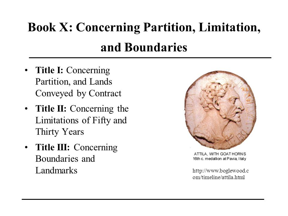 Book X: Concerning Partition, Limitation, and Boundaries