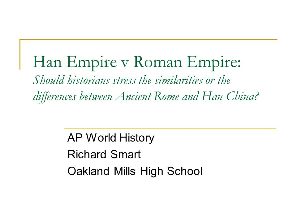 AP World History Richard Smart Oakland Mills High School