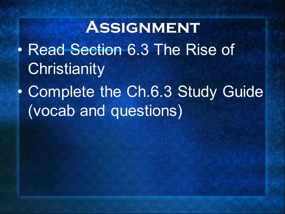 the rise of christianity analysis About the rise of christianity reading and writing as you read the chapter, write the important events that occurred in the rise of christianity step 1 fold a piece.