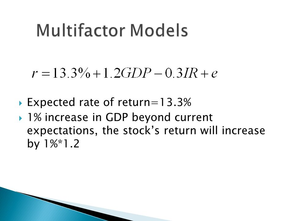 multifactor models View notes - chpt9_solutions from fnce 6300 at university of colorado, denver  chapter 9 multifactor models of risk and return answers to.