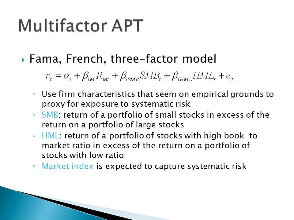 fama french three factor model A five-factor model directed at capturing the size, value, profitability, and investment patterns in average stock returns performs better than the three-factor model of fama and french (ff 1993) the five-factor model's main problem is its failure to capture the low average returns on small.