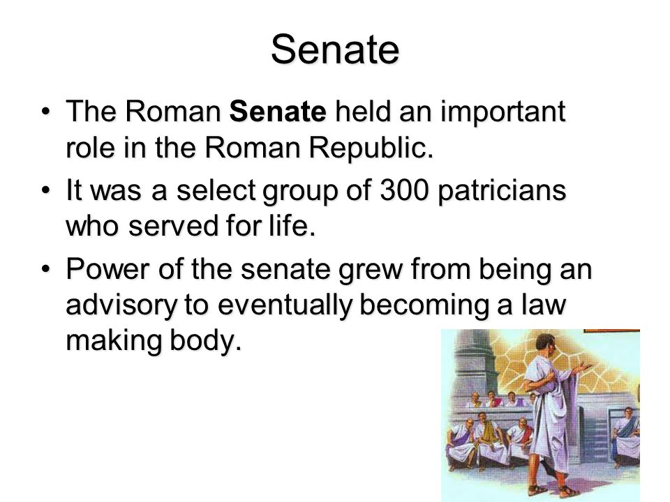 the role of senate in ancient rome Slavery in the roman empire  the roman senate sent a large army to deal  need to look at if you wanted to find out what slavery was like in ancient rome.