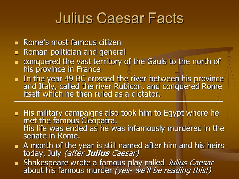 A biography of julius caesar a famous roman dictator