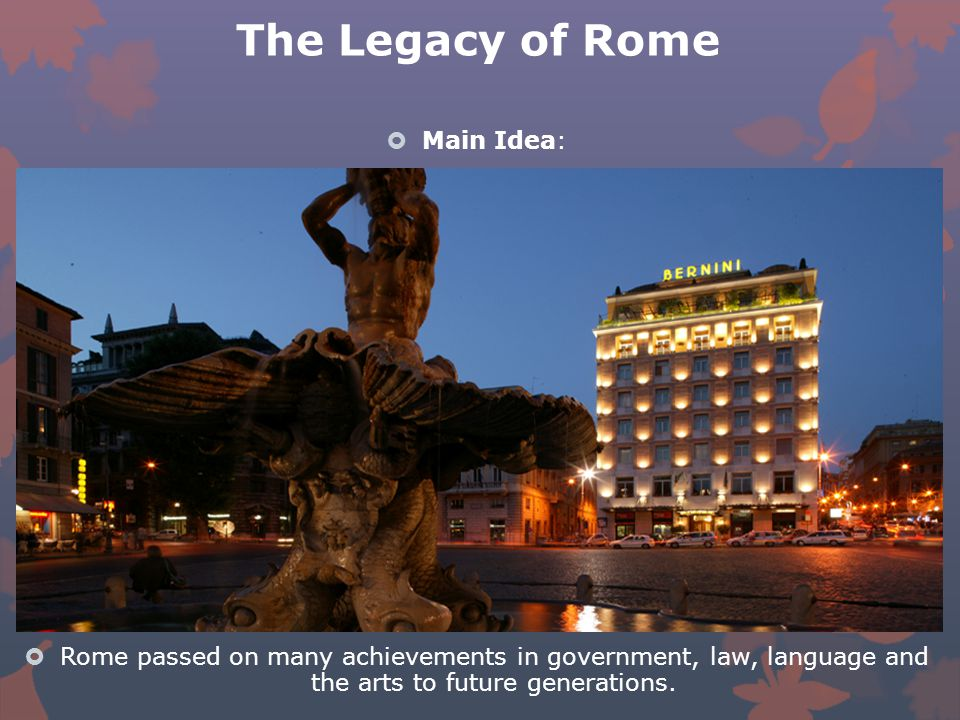 The Legacy of Rome. - ppt download
