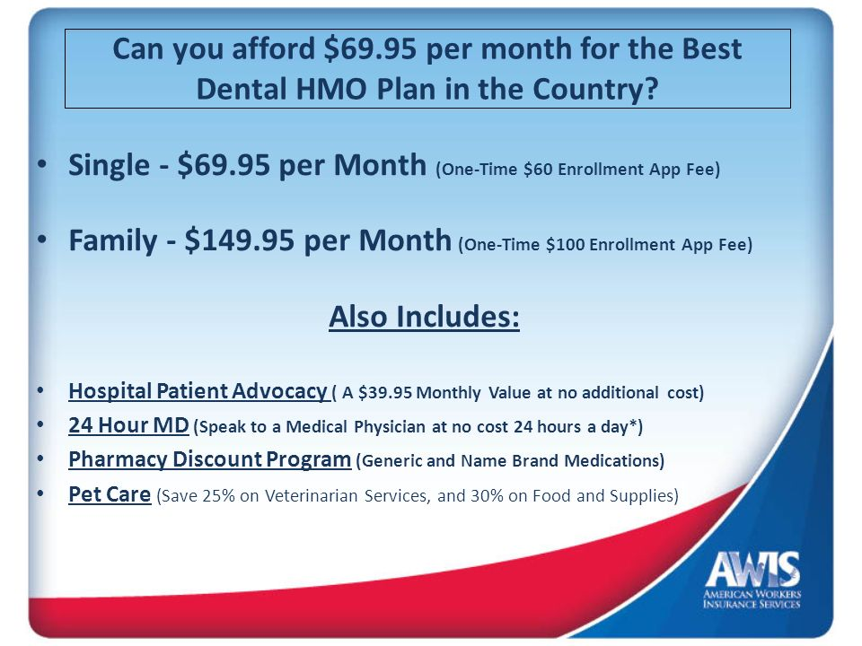 Single - $69.95 per Month (One-Time $60 Enrollment App Fee)