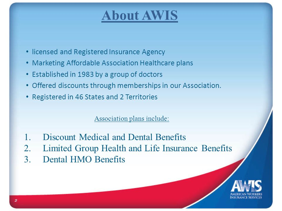 Association plans include: