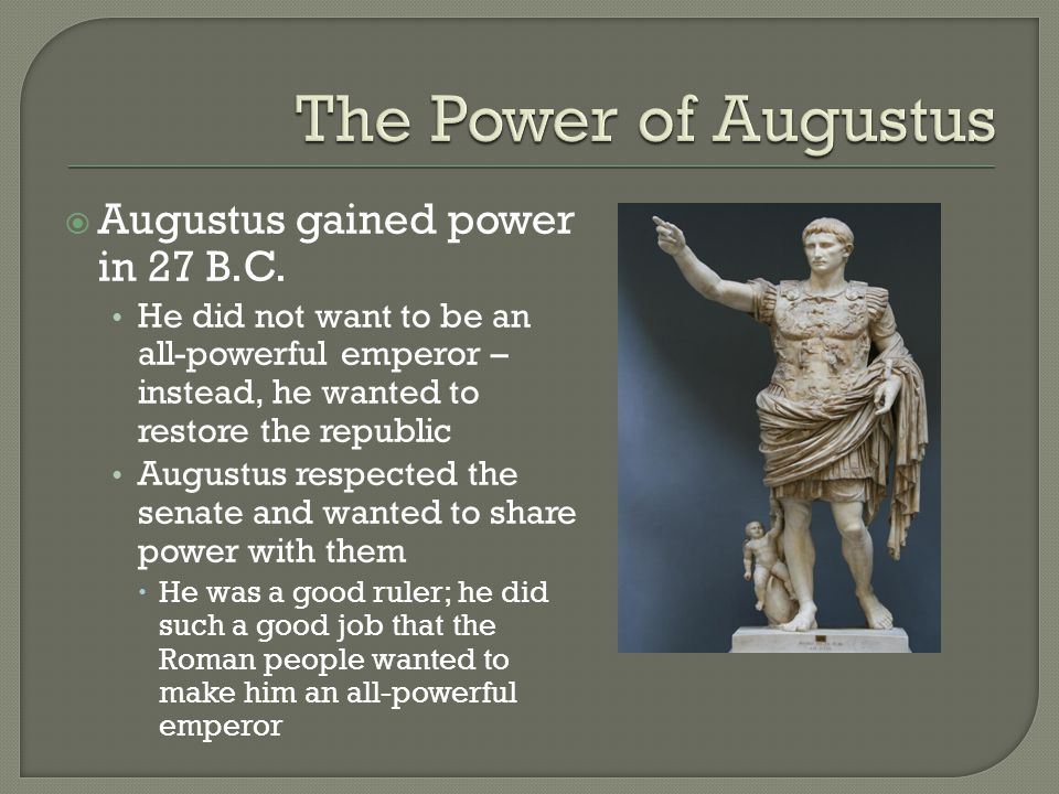 To what extent did augustus restore