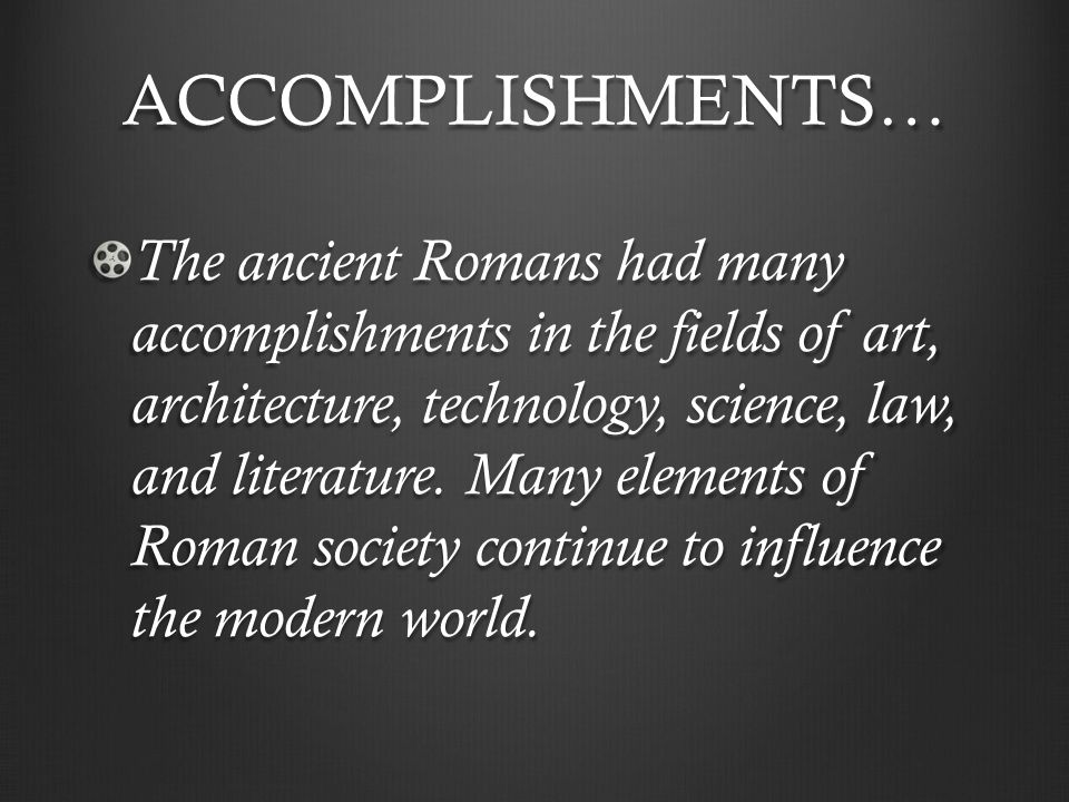 Ancient romes impact on the modern world
