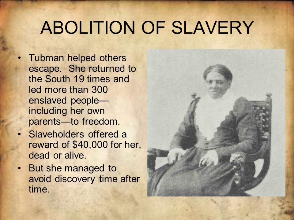 the abolition of slavery in america