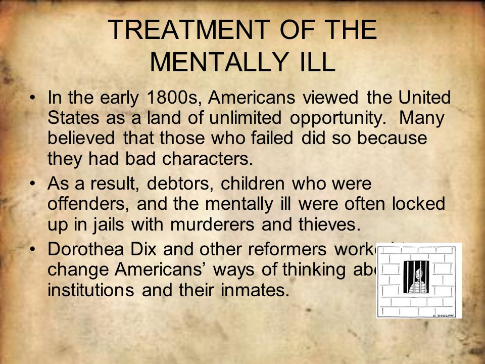 treatment of mentally ill prisoners And the effect of the prison environment on the mental health of prisoners   whilst detoxification may initially take priority in prison, treatment via the  substance.