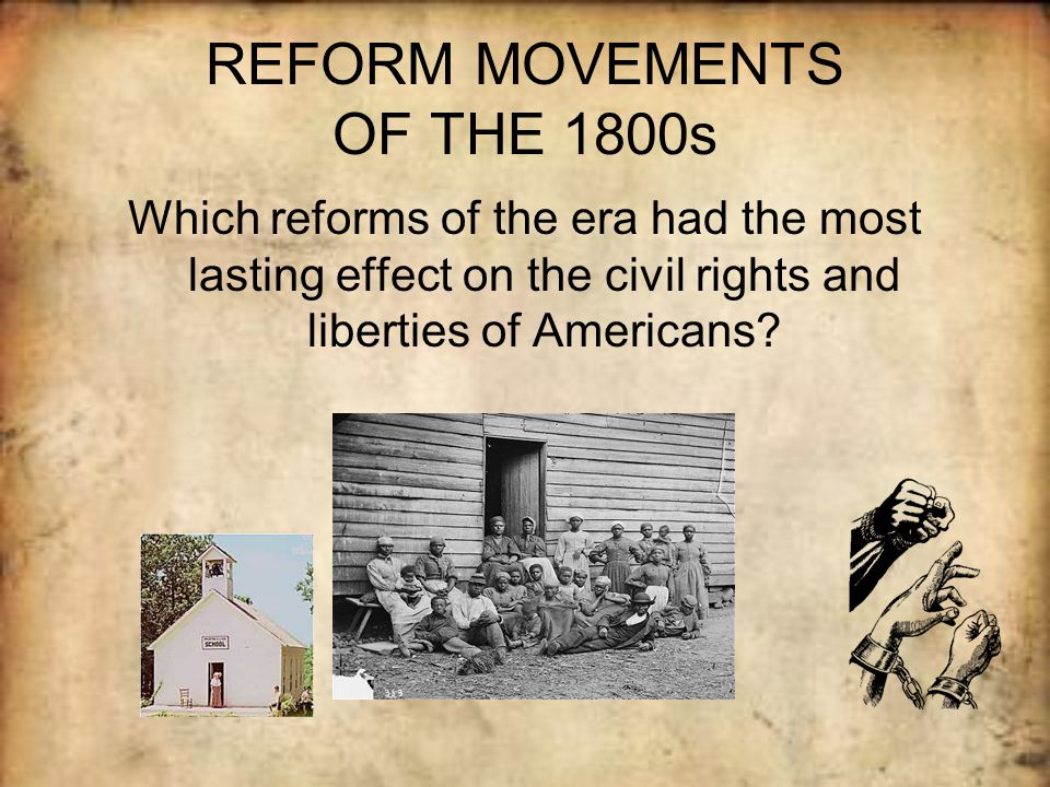 reform movements in u s history Historical background on antislavery and women's rights 1830-1845 but the two most controversial reform movements  teach us history.