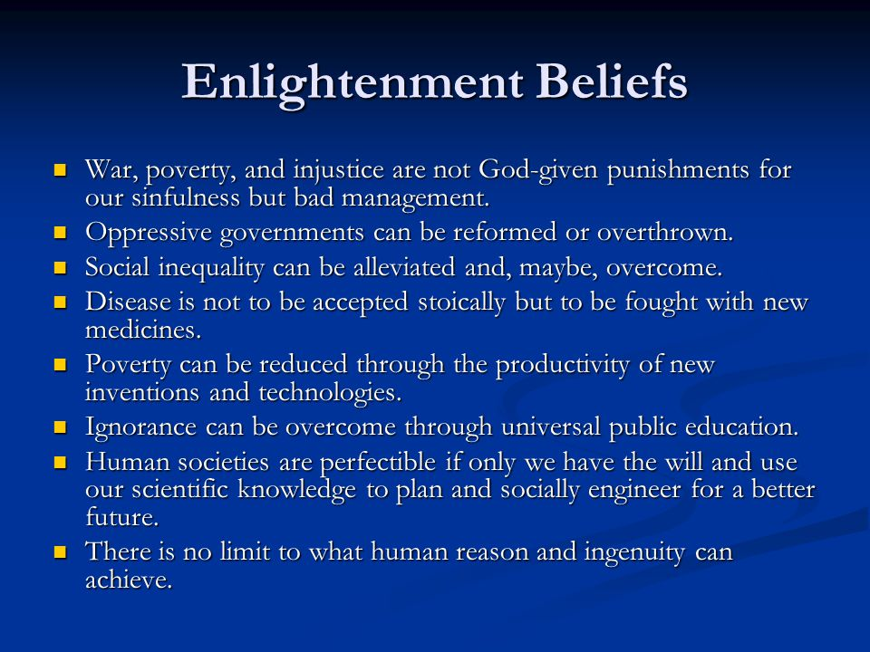 the age of reason and enlightenment