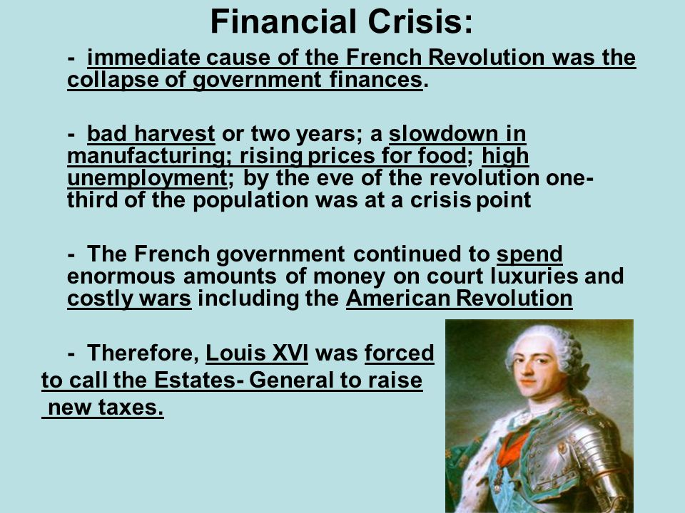 French revolution financial crisis essay
