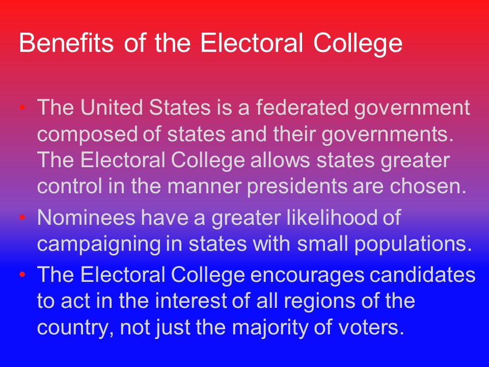 Benefits of the Electoral College