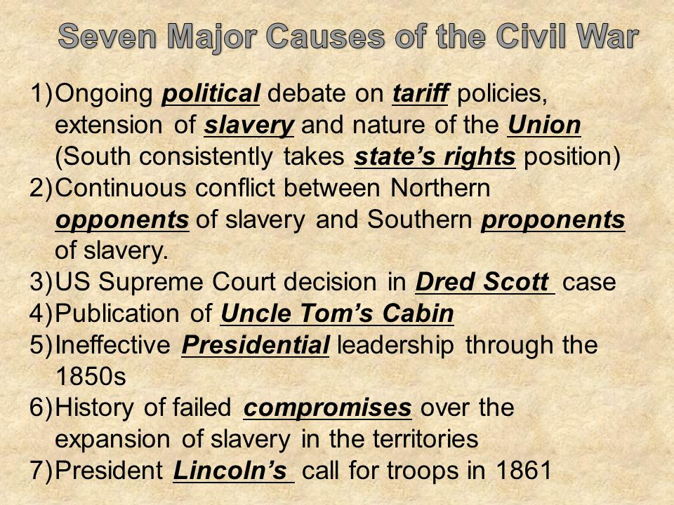 the conflicts and cause of the civil war Root causes of the civil war nearly one in five said they did not know what the root causes of the conflicts were, and few mentioned land issues.