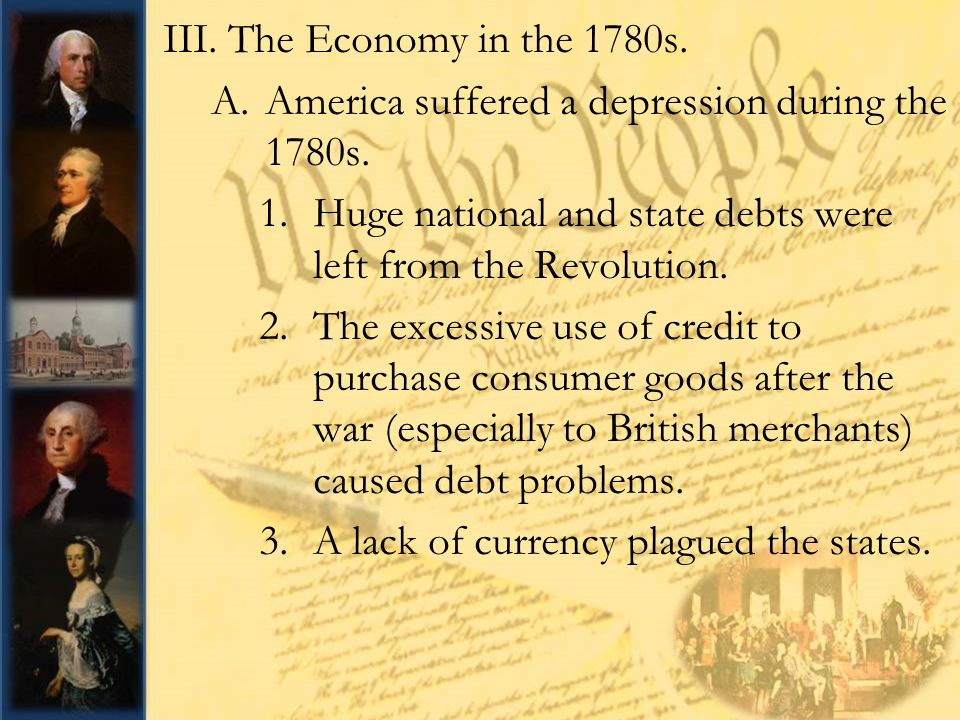 The Articles of Confederation and the Constitution: - ppt ...