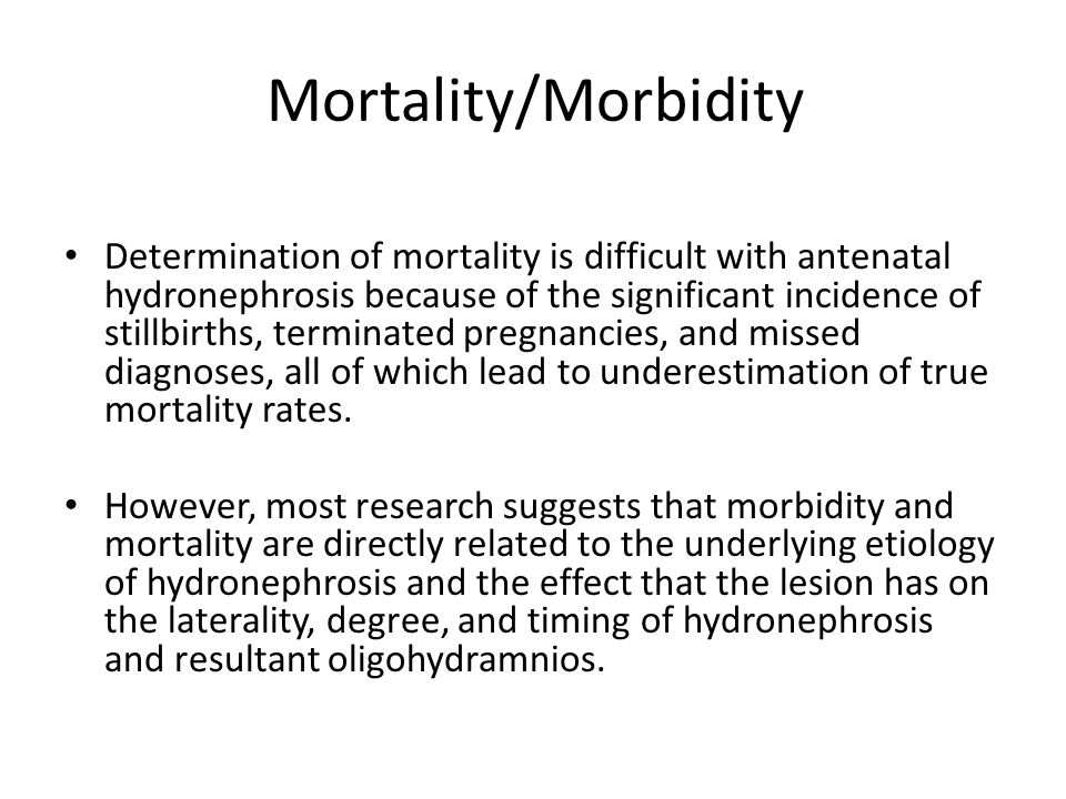 Mortality/Morbidity