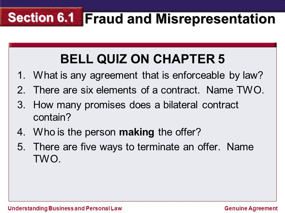 Bell Quiz On Chapter 5 What Is Any Agreement That Is Enforceable By
