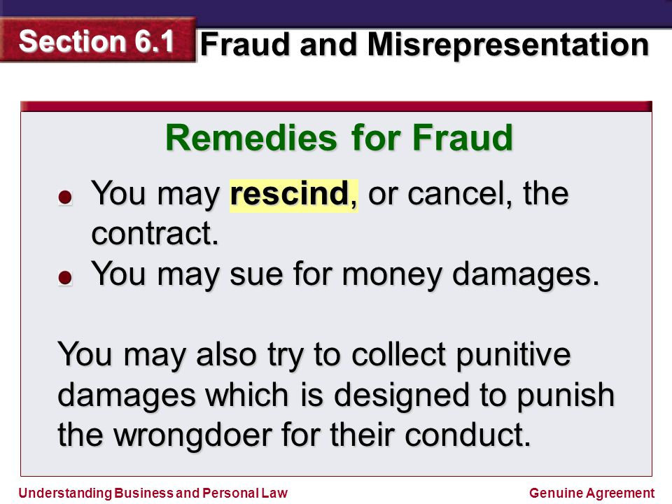 Bell quiz on chapter 5 what is any agreement that is enforceable by remedies for fraud you may rescind or cancel the contract platinumwayz