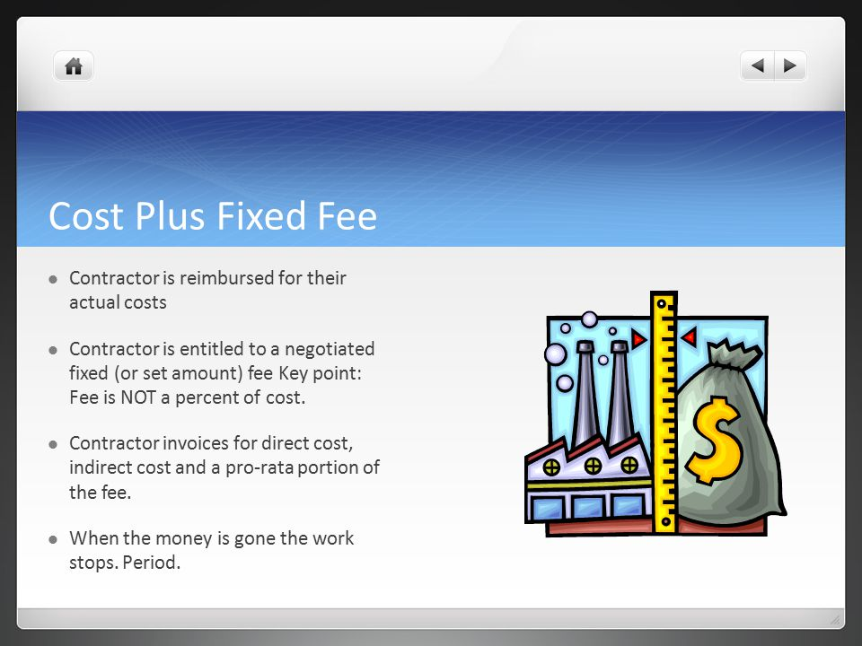 Contracting for program managers ppt download for Cost plus contract example