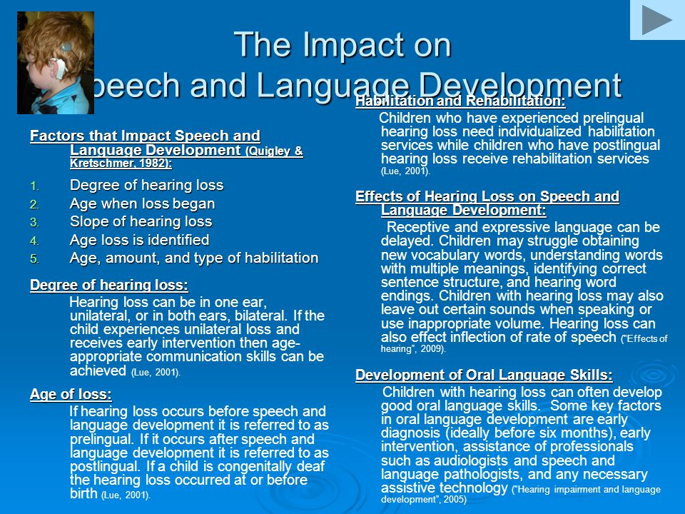 The Impact on Speech and Language Development