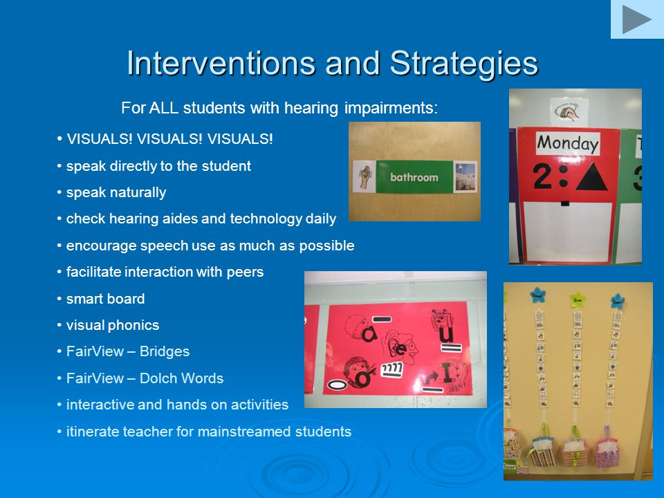 Interventions and Strategies