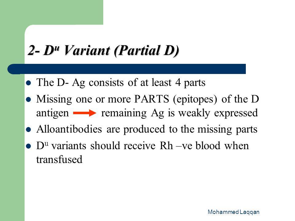 2- Du Variant (Partial D)
