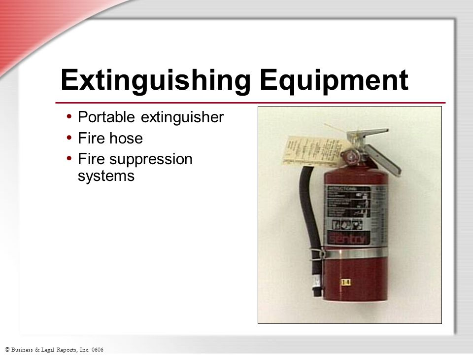 Portable Fire Suppression Equipment : Hazardous materials transportation ppt download