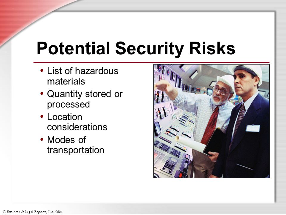 Potential Security Risks