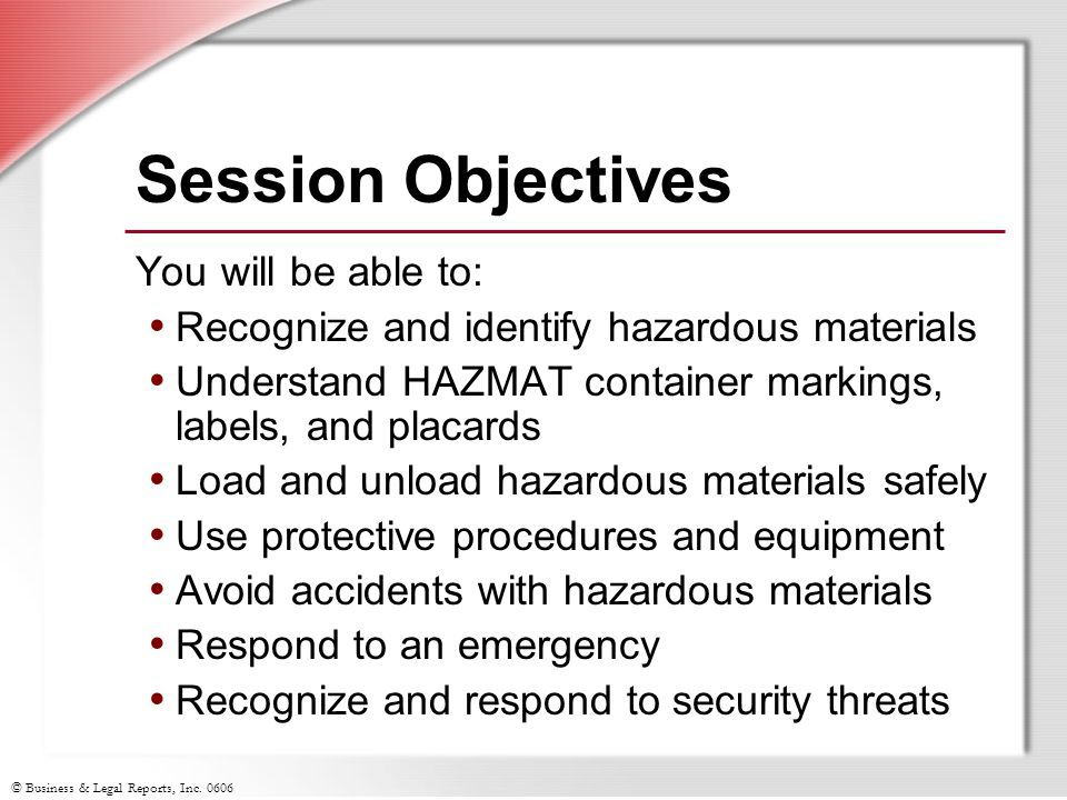 Session Objectives You will be able to: