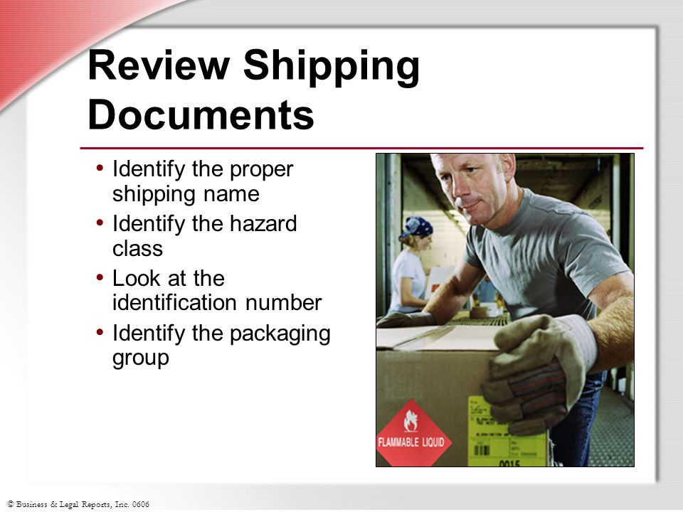Review Shipping Documents