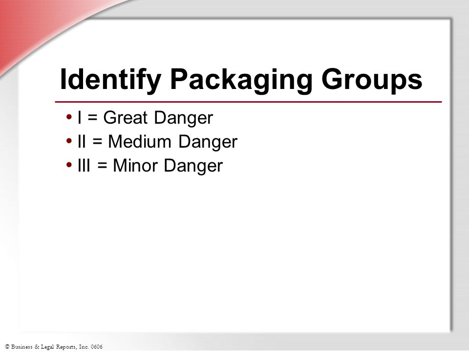 Identify Packaging Groups