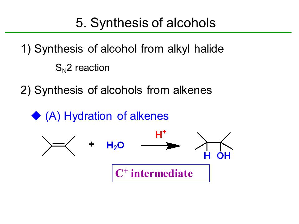 alkene synthesis from alcohol preparation of The peterson methodology has seen wide application in the synthesis of carbohydrates the preparation of 3-c-methylene and gave acceptable ratios of alkene to alcohol these papers laid the foundations for the use of phosphoryl-stabilized carbanions for alkene synthesis.