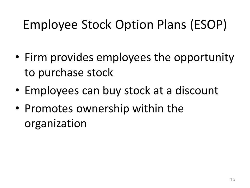 Employee stock ownership plan vs stock options