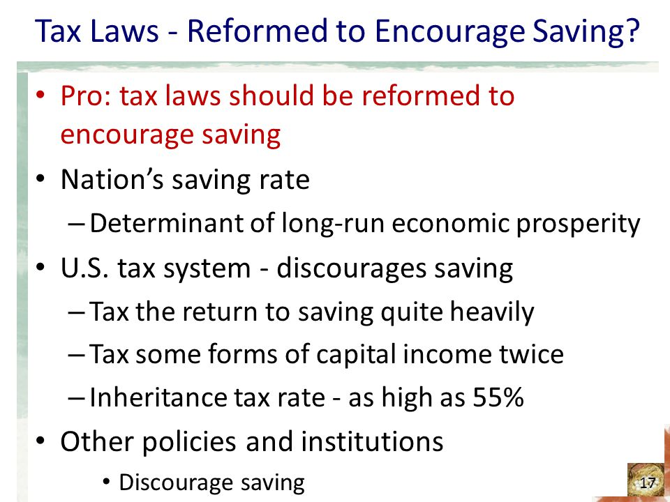 """the tax laws should be reformed (the new us tax law expanded that incentive to include certain federal tax benefits for families saving for k-12 private school as well) """"most economists agree that the passage of tax reform legislation should result in a modest uplift to near-term us economic growth, driven by a reduction in the corporate."""