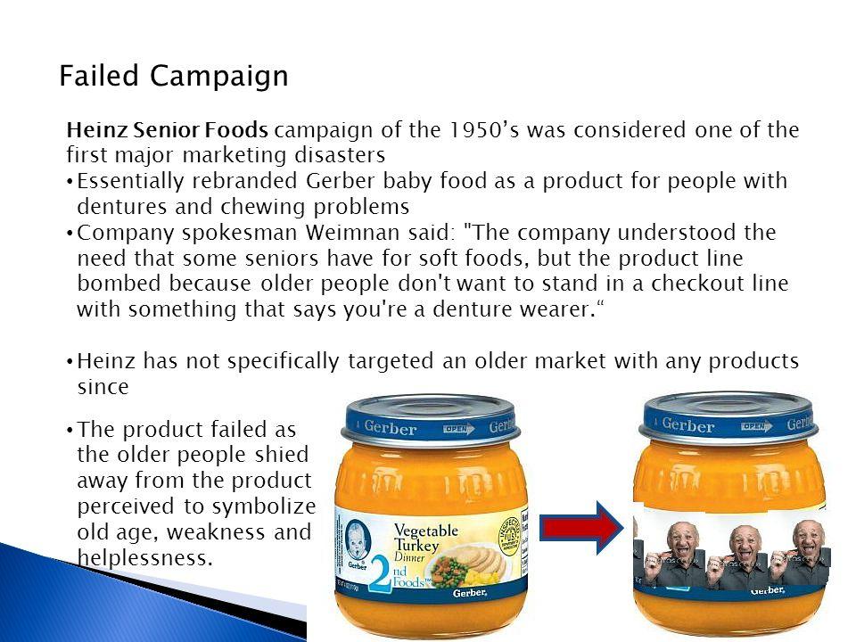 Gerber Denture Food Food For Old People Marketing