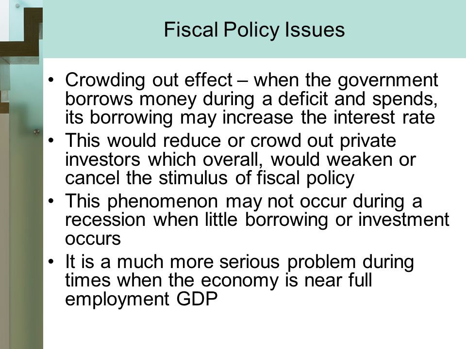 fiscal policy and its implications in malta Does fiscal policy work centrepiece autumn 2010 9 o ver the past two years, numerous countries have introduced packages of  implications for policy-makers the interaction between fiscal and monetary policy is a crucial determinant of the effects of fiscal stimulus for example, it is.