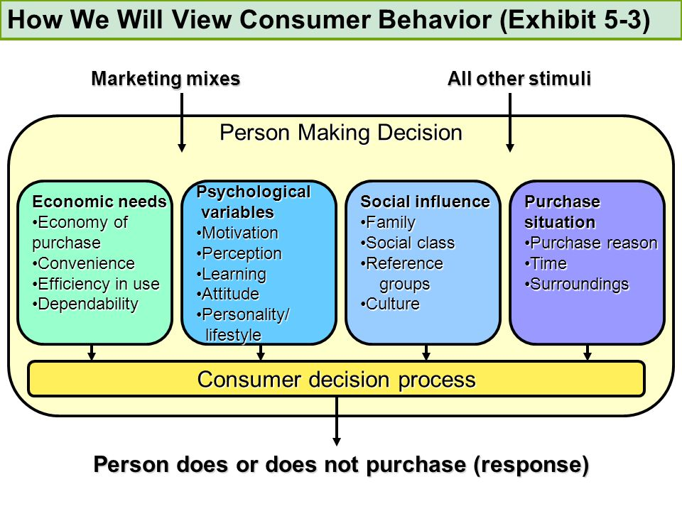 consumer behavior 5 point purchase Purchase decision-making in the couple conflict-solving tactics been the object of study in consumer purchase behavior (davis and rigaux 1974 martínez, 1996 research on this point should consider both models of conflict resolution.