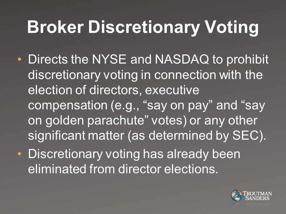 Nyse broker voting rules