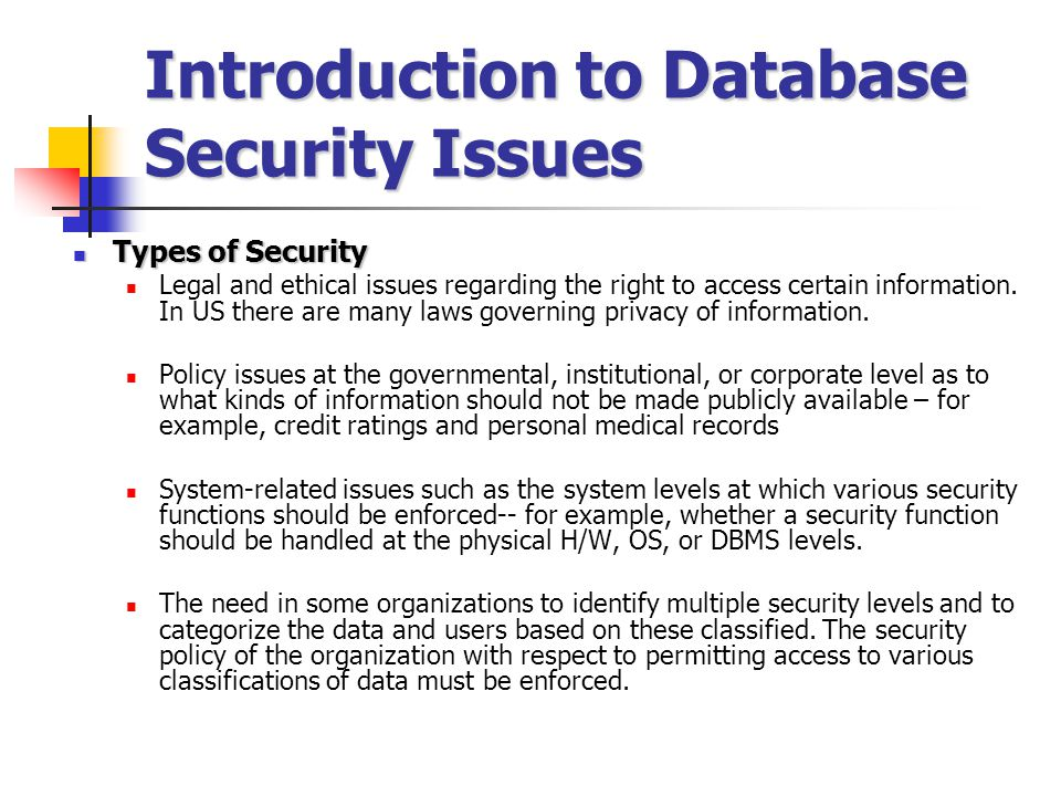 issues database