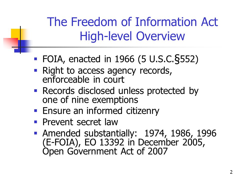 the impact of the freedom of information act of 1966 Content created by freedom of information act (foia) division content last reviewed on june 21, 2018.