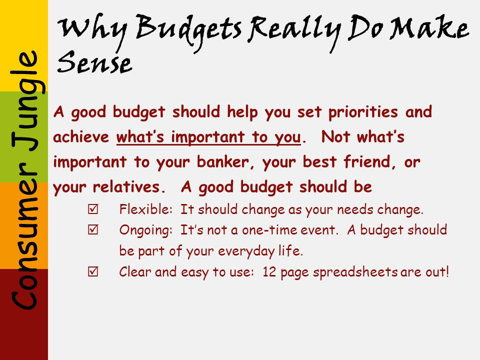 Why Budgets Really Do Make Sense