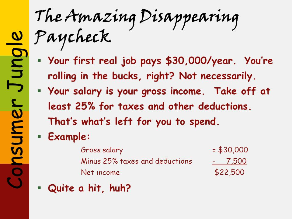 The Amazing Disappearing Paycheck