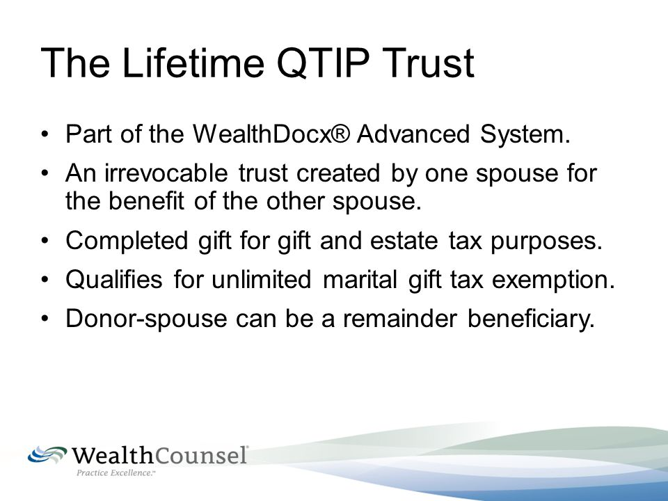 The Power and Functionality of Lifetime QTIP Planning - ppt video ...