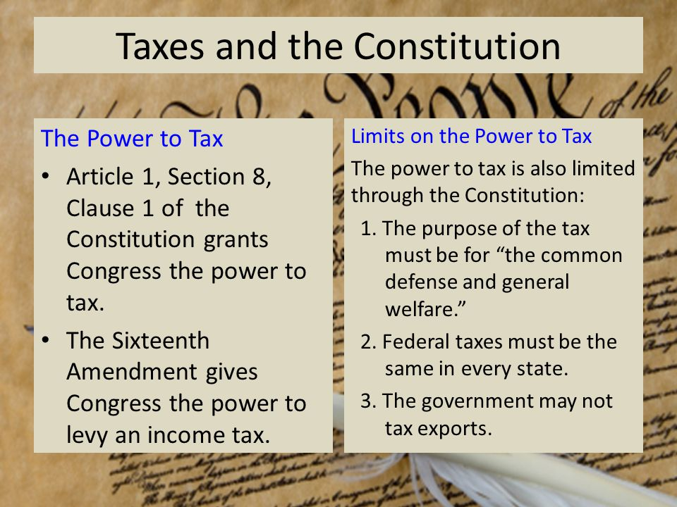 Property Tax Constitution