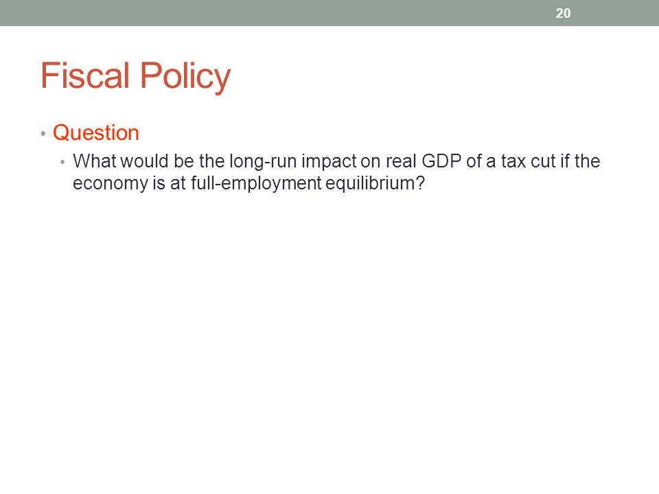 Fiscal Policy Question