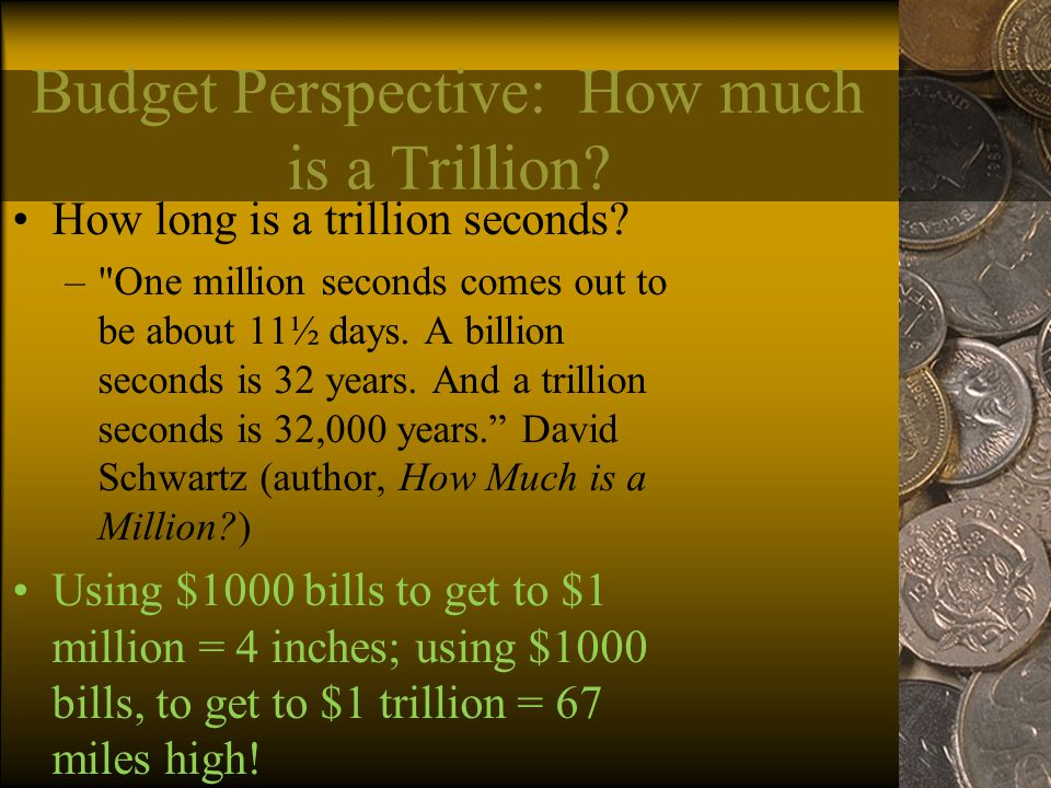 Budget Perspective: How much is a Trillion