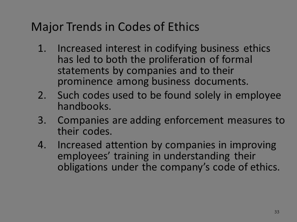 the importance of employees to understand the code of ethics The importance of ethics in the workplace in their personal and professional lives, people can and, unfortunately, sometimes do go against their moral and.