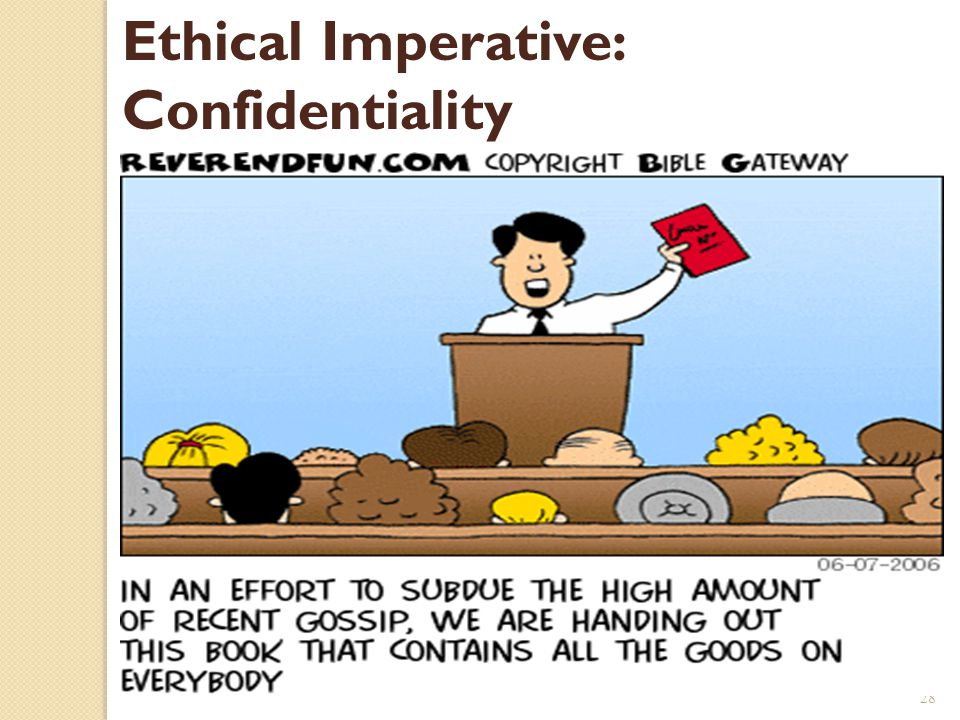 Ethical Imperative: Confidentiality